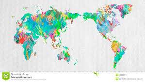 Population World Map by World Map With Hands In Different Colors Stock Photo Image 40256314