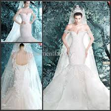 where to buy wedding dresses luxurious michael cinco mermaid wedding dress shoulder
