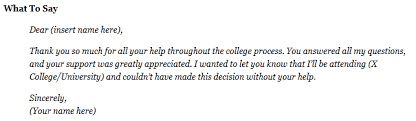 College Recommendation Letter Thank You Note 6 Thank You Notes You Should Write After Your Addmission In College
