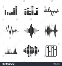 vector music sound wave icon set stock vector 295468697 shutterstock