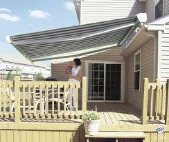 Powered Awnings Retractable Manor Awning With Full Cassette To Complete Enclose