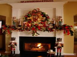 awesome fireplace christmas decorations on decoration with