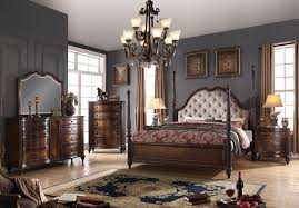 king poster bedroom set acme acme azis upholstered poster bedroom set in dark walnut azis
