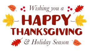 happy thanksgiving rcap