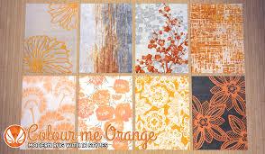 Orange Modern Rug by Simsational Designs Colour Me Orange Modern Rugs
