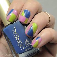 nail art summer colour blocking with l u0027oreal nail polish