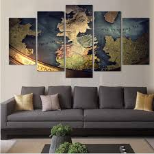 Home Decor Canvas Art Aliexpress Com Buy 5 Panel World Map Traditonal Modern Wall