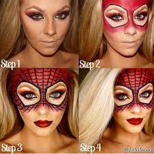 half face halloween makeup ideas instagram post by jadedeacon jadedeacon spiderman face