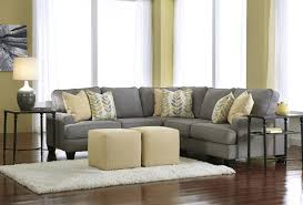 Livingroom Sectionals by Gray Suede Living Room Sectional Sofa With Track Style Armrest