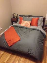 Orange Bed Sets Amazing Gray And Orange Bedding Magiel For Orange And Grey