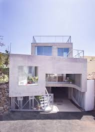 concrete home with interior courtyard g house by esaú acosta