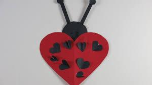 valentine u0027s day diy ladybug heart craft for kids youtube