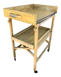 Folding Kitchen Cart by Antique Wooden Folding Two Tiered Tea Trolley Bar Cart Chairish