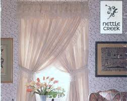Criss Cross Curtains Priscilla Curtains Etsy