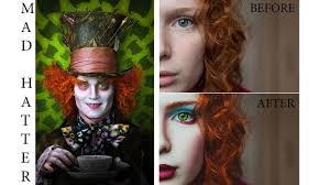 Halloween Mad Hatter Makeup by Mad Hatter Photoshop Tutorial Part 2 Photoshop Addict Youtube