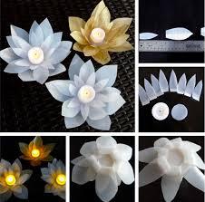 recycled milk jug flowers lotus votives video instructions milk