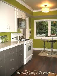 gray walls with stained kitchen cabinets painted 2 tone cabinet ideas budget friendly kitchen remodel