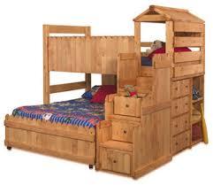Play Bunk Beds C Wildwood Fort Loft Transitional Bunk Beds