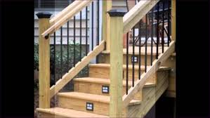 outdoor awesome how to install outdoor stair railing exterior