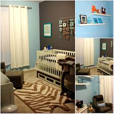 Blue And Brown Decor Baby Nursery Decor Cool Zebra Touches Rugs Unique Baby Boy