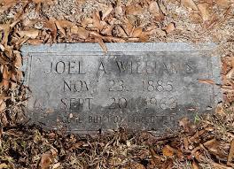 joel allen joel allen williams 1885 1962 find a grave memorial