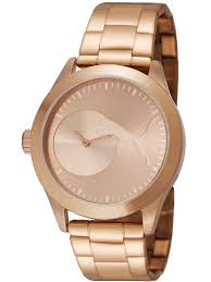 rose gold stainless steel bracelet images Women 39 s rose gold tone puma bling stainless steel watch pu103582003 gif