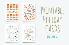 holiday card template christmas 5 pack value buy hand drawn