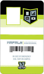 napalm energy drink high student id card templates show
