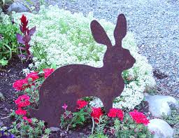 rabbit garden zgardenparty rabbit garden statue reviews wayfair