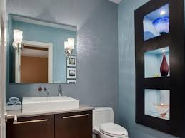 half bathroom powder room hgtv mirrored walls