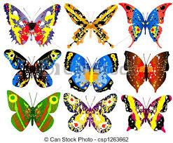 colorful butterflies selection of brightly colored generic