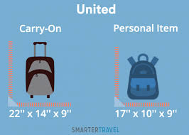 united airlines carry on fee personal item vs carry on what u0027s the difference smartertravel