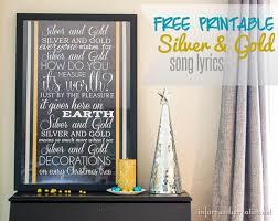 printable lyrics silver and gold song lyrics free printable silver and gold