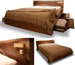 Bed Frame Designs Rustic Modern Comfortable Wooden Bed Frame Design