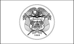 utah state flag coloring page eson me