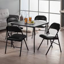 5 piece table and chair set meco sudden comfort deluxe double padded chair and back 5 piece