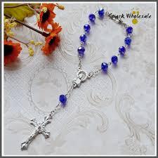 communion favors wholesale 12pcs lot religious communion favors 8 6mm blue rosary