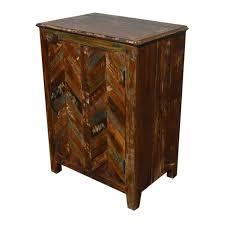rustic reclaimed nightstand chairish