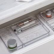 Cosmetic Cabinet Interdesign Rain Cosmetic Organizer Tray For Vanity Cabinet To