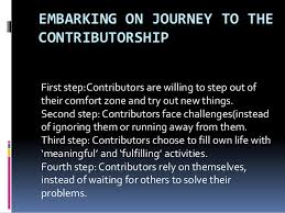 Out Of Comfort Zone Activities Embarking The Journey To Contributorship