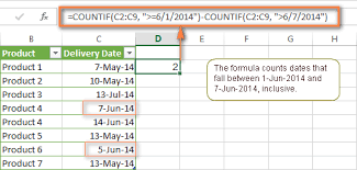 excel countifs and countif with multiple criteria formula examples