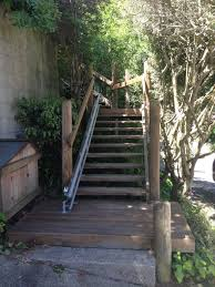 outdoor curved stair lift san francisco by acme home elevator