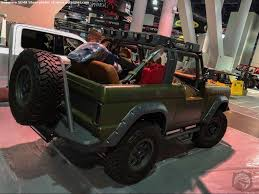 bronco jeep 2017 sema2017 truck wars which retromod ford bronco strikes your