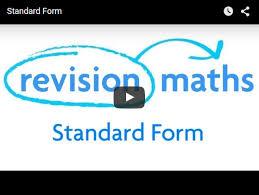 standard form mathematics gcse revision