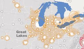 Map Of The United States Great Lakes by Great Lakes America 2050