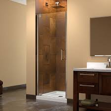 pivot glass door dreamline elegance 34 36 in width frameless pivot shower door 3