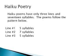 pattern poem definition haiku tanka cinquain and diamante ppt video online download