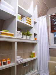 diy small bathroom storage ideas with built in bathtub and