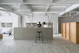 Salon Lighting Fixtures by A Minimalist Hair Salon With A Concrete And Wood Interior Design