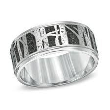 mens wedding band metals men s 9 0mm aspen tree comfort fit cobalt wedding band size 10
